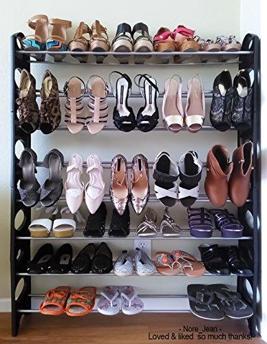 Oxgord 50 Pair Shoe Rack Storage Organizer 10 Tier