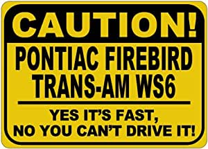 PONTIAC FIREBIRD TRANS-AM WS6 Yes It's Fast Sign - 10 x 14 Inches