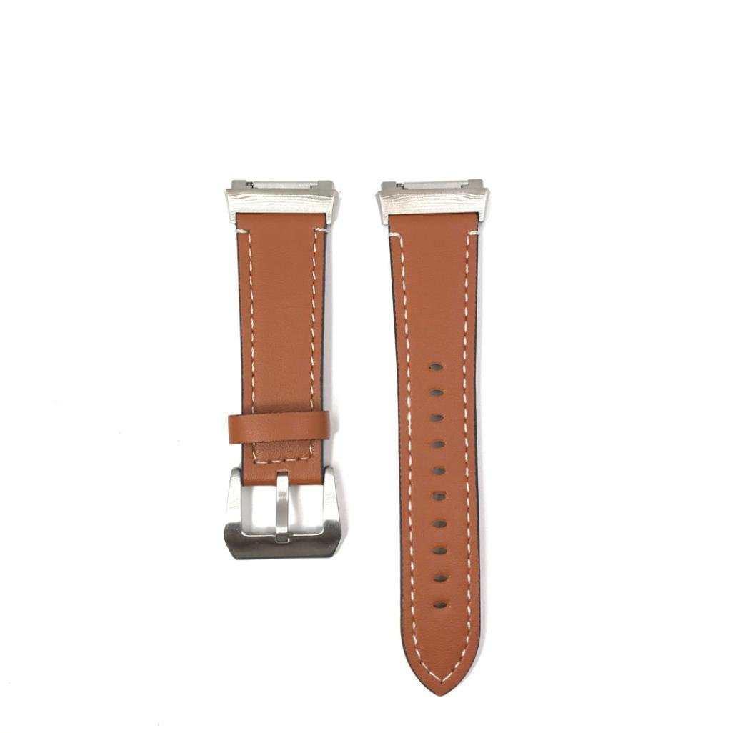 Alonea Luxury Leather Band Bracelet Watch Band For Fitbit Ionic (Coffee)
