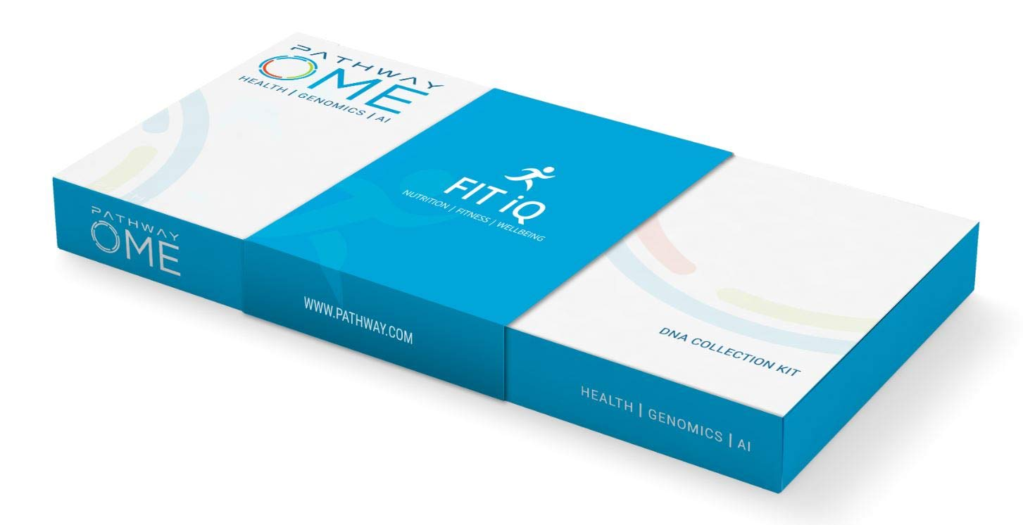 Fit iQ™ by Pathway Genomics | at Home DNA Test | Health & Wellness Test | Personalized Genetic Report | Analyzes 65 Genetic Markers