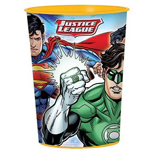 16oz Justice League DC Comics Superhero Party Plastic Loot Treat Favor Keepsake cups - Keepsake Superhero