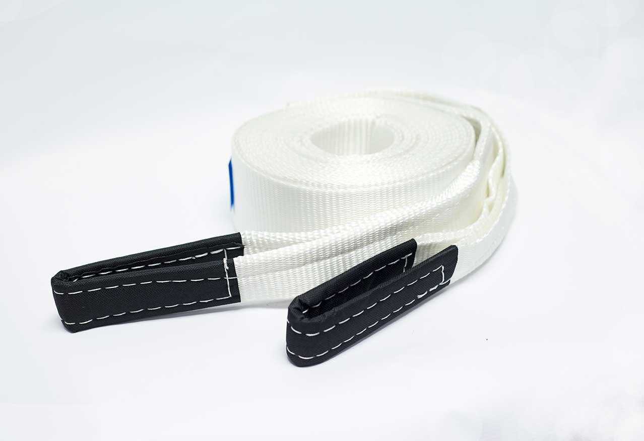 DiversityWrap - Cinghie tiranti da traino a strato singolo resistente, per 8 t, corda traino a cinghia per argani,  4 x 4 e fuoristrada