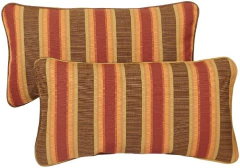 Mozaic Company Sunbrella Indoor Outdoor 12 by 24-inch Corded Pillow, Dimone Sequoia, Set of 2