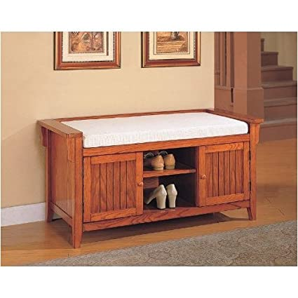 Mission Style Accent Entryway / Hallway Storage Bench