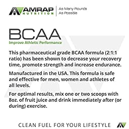 AMRAP Nutrition Branched Chain Amino Acid Recovery Powder – 200g – Up to 40 Servings