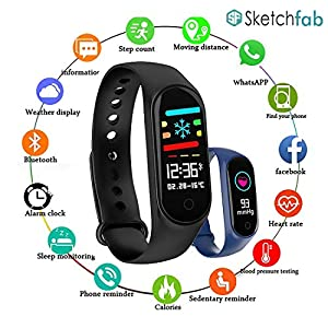 51ZoTFqNR5L. SS300 Sketchfab Band Smart Fitness Band Activity Tracker with OLED Display Compatible with Android and iOS Devices.