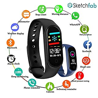 51ZoTFqNR5L. SS320 Sketchfab Band Smart Fitness Band Activity Tracker with OLED Display Smart Band Monitor | Smart Health for Men & Women…
