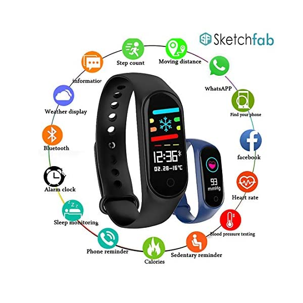 51ZoTFqNR5L Sketchfab Band Smart Fitness Band Activity Tracker with OLED Display Smart Band Monitor | Smart Health for Men & Women…