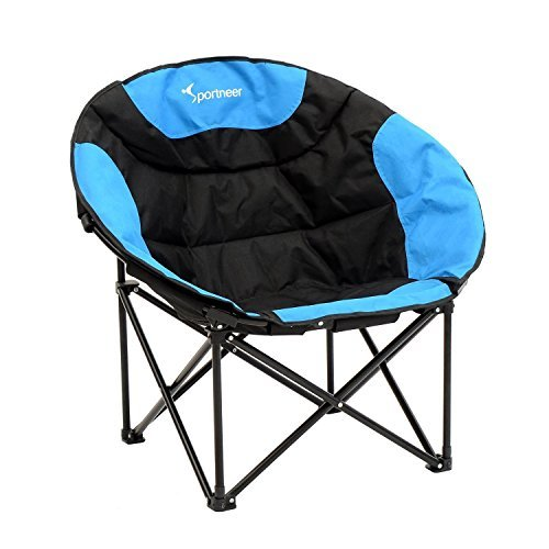 Sportneer Moon Saucer Lightweight Folding Camping Chair with Carry Bag, 260-Pound Capacity
