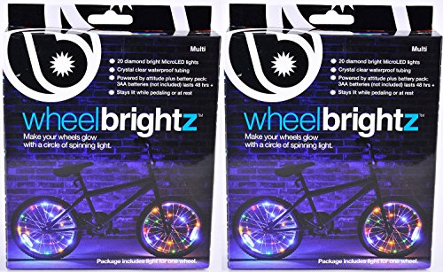 Brightz, Ltd. Wheel Brightz LED Bicycle Accessory Light (2-Pack Bundle 2 Tires), Multicolor - Ltd Rear Wheel