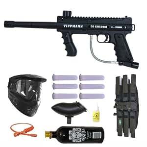Tippmann 98 Custom Platinum Basic Series 3Skull Paintball Gun Marker MEGA Set