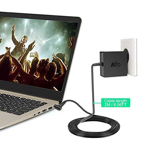 KFD 65W Cargador Adaptador de Corriente para Asus ZenBook 13 UX333FA VivoBook Flip 14 TP412UA S512FA UX32V F540 X556U UX330U UX303L F201E UX305 UX21A ...