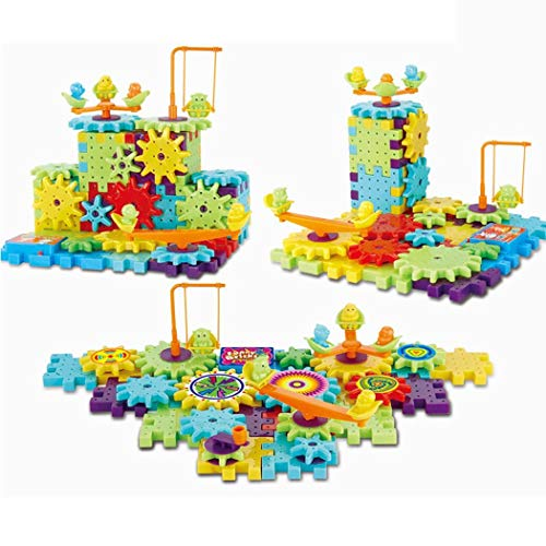 Bifast Kids 81 PCS Electric Building Blocks Set,Rotating Gear Electric Building Blocks Set Educational Toy for Boys and Girls Ages 3 and up