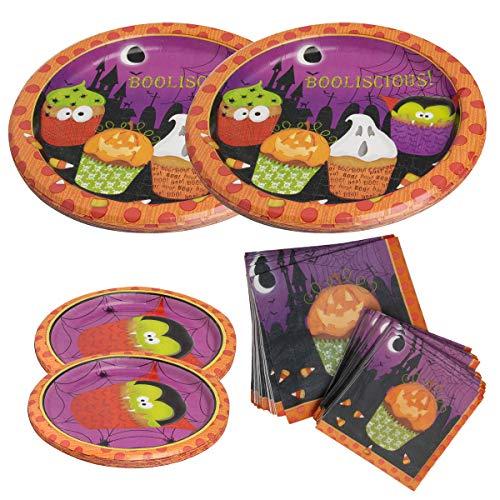 Party House (104 Piece Halloween Set Paper Plates & Napkins Event Supplies for Parties Kids