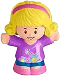 Replacement Figure for Little People House FHF34 - Fisher-Price Little People Big Helpers Home Playset ~ Replacement Little Girl Figure Emma