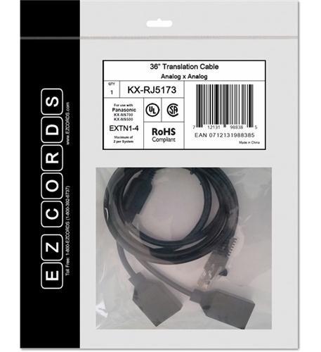 EZCORDS KX-RJ5173 EXTN1-4 NS700 Translation Cable by EZCORDS