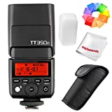 Photo : Godox TT350F 2.4G HSS 1/8000s TTL GN36 Camera Flash Speedlite for Fuji Cameras X-Pro2 X-T20 X-T2 X-T1 X-Pro1 X-T10 X-E1 X-A3 X100F X100T with Color Filters and PERGEAR Cleaning Cloth
