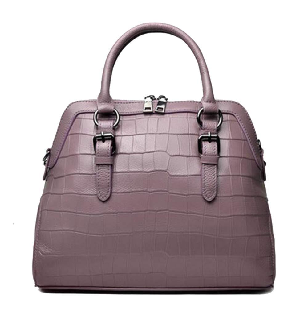 Purple Yan Show Women's PU Simple Handbag MultiPocket Shoulder Bag Elegant Top Handle Bag Purse (Dark Green)