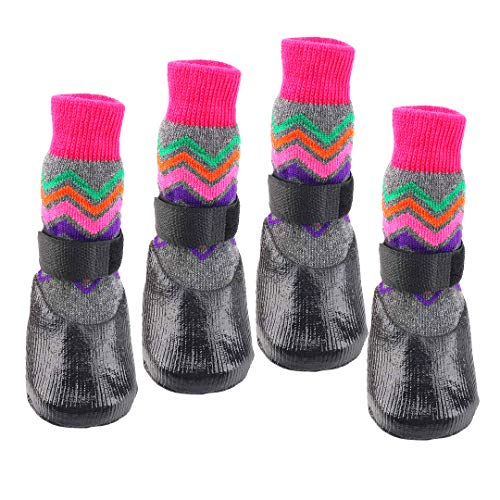 (abcGoodefg Pet Dog Socks Dog Boots Shoes Puppy Waterproof Nonslip Sports Socks Shoes Boots for Dog Rubber Sole Paw Protection for Small Medium Large Pet Dog.)