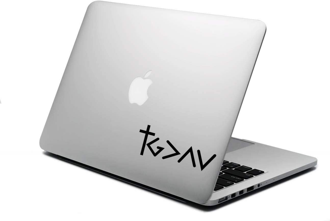 """World Design God is Greater Than Highs and Lows 6"""" Laptop Back Decal"""