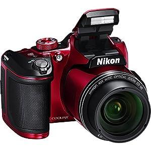 Nikon COOLPIX B500 Digital Camera (Red) Bundle with Accessory Kit (10 Items)