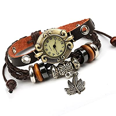 Punk watch?quartz watches, fashion, casual, ethnic style, leather, W0304