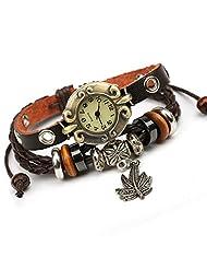 Punk watch,quartz watches, fashion, casual, ethnic style, leather, W0303
