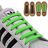 INMAKER No Tie Shoelaces for Kids and Adults (2 Pairs), Elastic Shoelaces for Sneakers, Silicone Flat Tieless Running Shoe Laces