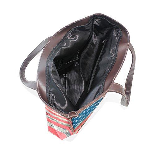 Handtasche Americana Frauen Mädchen für Schultertasche PU Leder COOSUN nvWFa8a