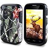 lg 305c phone case - LG 306G Case - Slim Hybrid Armor Case Protective Phone Cover For LG 306G / LG 305C (TracFone / NET10 / StraightTalk) Hunting Camouflage - Shadow Oak Camo