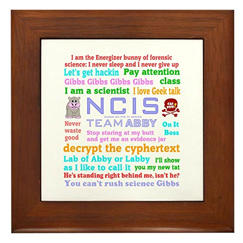 CafePress - NCIS Abby Quotes - Framed Tile, Decorative Tile Wall Hanging