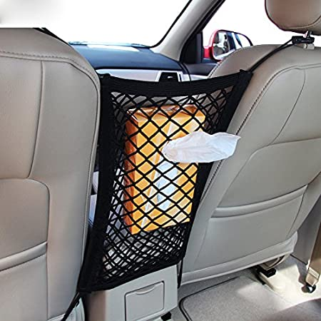 MICTUNING Cargo Net 5x7 Heavy Duty Truck Bed Bungee Nets Stretches to 10x14 with 16pcs D Shape Aluminum Carabiners Universal for Pickup Truck SUV Trailer Boat RV