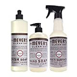 Health & Personal Care : Mrs. Meyer's Kitchen set, Lavender, 3 ct: dish soap, hand soap & multi-surface everyday cleaner