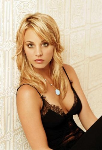 Kaley Cuoco Poster Black Dress Big Bang Theory