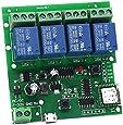 4 Channel WiFi Momentary Inching Relay Self-Lock Switch Module,DIY WiFi Garage Door Controller (5-32V)