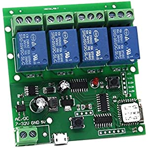 Amazon com: WHDTS WiFi Relay Delay Switch Module Self-Lock