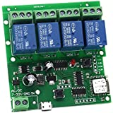 4 Channel WIFI Momentary Inching Relay Self-lock Switch Module,DIY WIFI Garage Door Controller (5-32V)