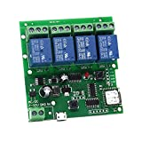 remote relay module - WIFI Relay Switch Module Phone Remote Timer Control For Wireless Android IOS (5-32V 4-Channel)