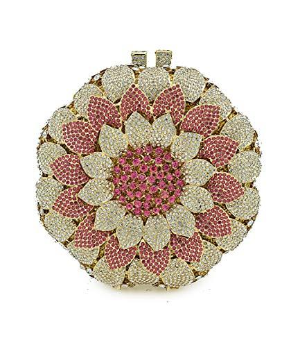 De De Main Soirée Strass Femmes À pour Sac Perles en De Ronde Sac Fête De Pink Forme KOKR x7Fq1w0XgB