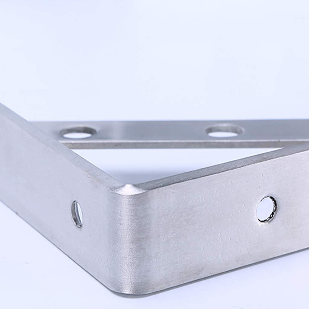 250mm 4 piezas Soporte de montaje soporte de /ángulo recto engrosado soporte de pared blanco en forma de L de acero inoxidable para colgar muebles conectores decorativos industriales con tornillos