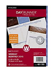 Day Runner Weekly Planner Refill 2015, Wedgewood, 3-in-1, 5.5 X 8.5 Inch Page Size (481-785)