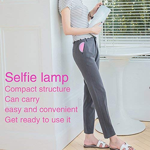 Selfie Ring Light, Selfie Light Ring Brightness Rechargeable Selfie Lighting Ring for iPhone Samsung Galaxy by umsky (Image #4)