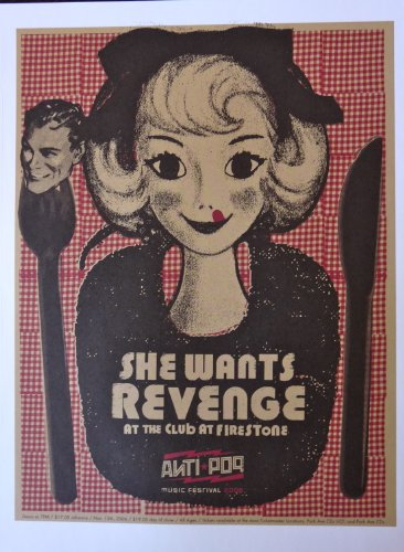 She Wants Revenge - Live at Anti-Pop Festival 2006 - Concert Gig Poster - 10