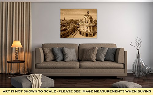 Ashley Canvas Radcliffe Camera Lincoln And Exeter Colleges, Wall Art Home Decor, Ready to Hang, Sepia, 16x20, AG6435025 by Ashley Canvas (Image #2)