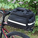 FidgetFidget Cycling Handbag Black Waterproof Bicycle Bike Rear Seat Trunk Bag Pannier