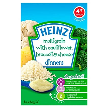 Coliflor y Brócoli Queso de Heinz Cena Farley de 4 mess 125g