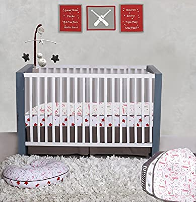 Bacati Sports Muslin 3pc Crib Set with 4 Muslin Layers Lux Dream Blanket