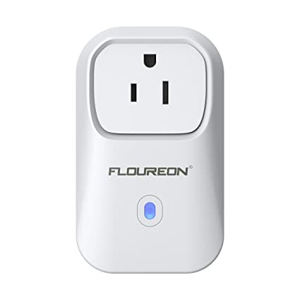 FLOUREON Wi-Fi Smart Socket US Plug Outlet Timer Switch Works No Hub Required Support