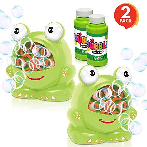 ArtCreativity Frog Bubble Machine Set for Kids