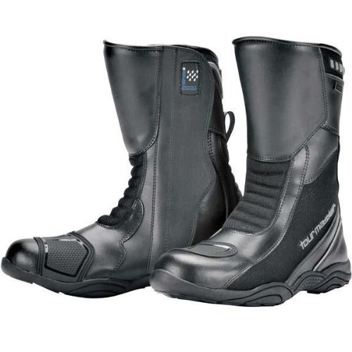 Tour Master Solution WP Air Road Men's Leather Street Motorcycle Boots - Black/Size 11